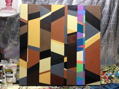 Hard Edge Abstraction. Acrylic. 2012.