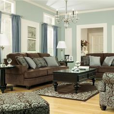 Living Room Colors With Brown Couch