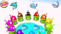 Learn Numbers and Colors with Fish for Kids Toddler Learning Numbers, Nursery Rhymes, Fish, Marketing, Colors, Character, Preschool, Lettering, Nursery Rhymes Songs