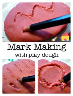 mark making with play dough :: pre writing activities :: multi sensory writing activities. Handwriting for kids how to improve. Eyfs Activities, Nursery Activities, Playdough Activities, Motor Skills Activities, Activities For 2 Year Olds At Nursery, Toddler Activities, Writing Activities For Preschoolers, Toddler Play, Toddler Bed