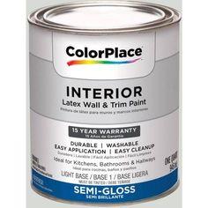 ColorPlace, Interior Paint, Light Silver Sage, # 90YY 73/040, Semi-Gloss, Quart