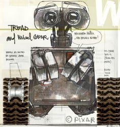 blogWsketch WALL-E Jay Shuster Production Designer at Pixar