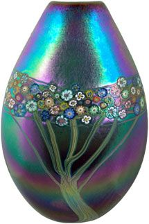 Hanson and Kastles: Vine series iridescent pouch vase