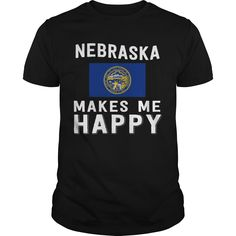Get yours nice Nebraska Makes Me Happy Best Gift Shirts & Hoodies.  #gift, #idea, #photo, #image, #hoodie, #shirt, #christmas
