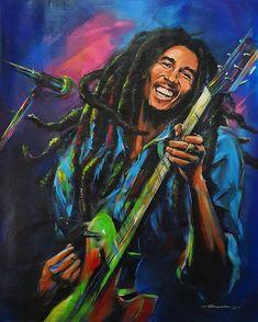 Bob Marley Painting, Bob Marley Art, Nesta Marley, Reggae Music, Blues Music, Daddy Yankee, Forever Love, Soul Music, Classical Music