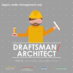 Hiring DraftsMan/Architect  poster
