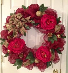 Hey, I found this really awesome Etsy listing at https://www.etsy.com/listing/207563369/extra-large-holiday-deco-mesh-wreath