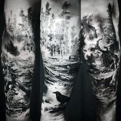 Resultado de imagen de forest tattoo design