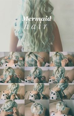 Mermaid hair. BEST PIN EVER. it actually works my hair is nice and wavy , and not frizzy at all. YOU HAVE TO PIN IT !!