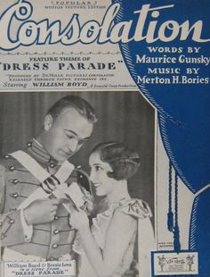 "Sheet music from the film ""Dress Parade"" starring William Boyd and Bessie Love"