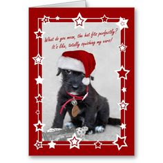 Cute And Humorous Puppy Christmas Card