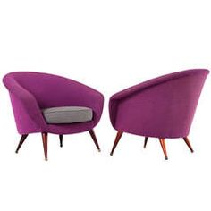 Set of Two Club Chairs by Folke Jansson, Sweden