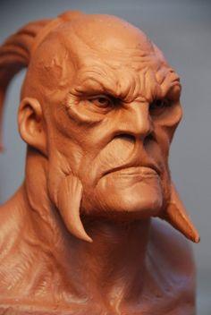 Mark Newman clay sculpture