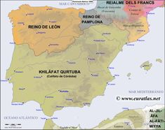 of the Iberian Peninsula in the year 1000 Website with detailed maps of Iberia, by century European History, World History, Iberian Peninsula, Mystery Of History, Old Maps, Vintage Maps, City Maps, Historical Maps, Social Studies