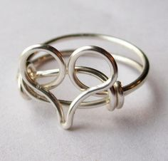 Silver Heart Ring Custom Size