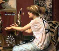 Musical characters in the art of John William Godward