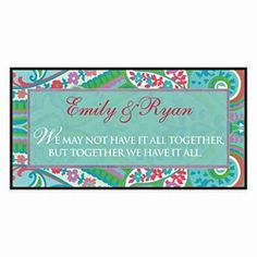TOGETHER PERSONALIZED PLAQUE - MULTI