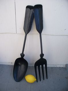 Vintage Large Metal Spoon and Fork Wall Decor. $20.00, via Etsy.