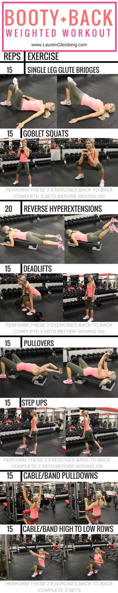 Week 3 Day (Back, Biceps + Rear Delt) Workout Fitness Motivation, Fitness Tips, Health Fitness, Paleo Fitness, Group Fitness, Upper Body Weight Workout, Physique, Lauren Gleisberg, Rear Delt
