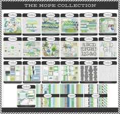Digital Scrapbooking.  Hope Collection. Weeds and Wildflowers Design.  Whole collection for $16.00