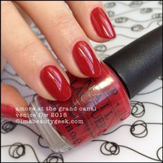 OPI Amore at the Grand Canal – OPI Venice Collection 2015. There's a buttload of OPI Venice 2015 swatches at imabeautygeek.com