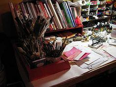 On My Drawing Table by kbaxterpackwood, via Flickr
