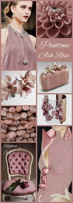 '' Ash Rose – Pantone '' by Reyhan S. Colour Schemes, Color Trends, Color Patterns, Color Combinations, Wedding Color Pallet, Wedding Colors, Color Collage, Mood Colors, Color Me Beautiful