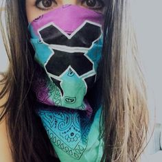 Custom Excision or Destroid tie dye bandana by ElevatedEye on Etsy