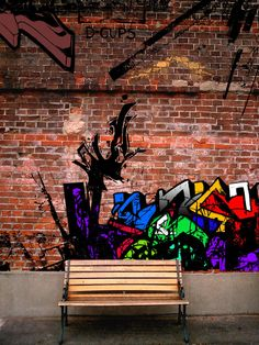 Doing the graffiti pattern on a brick wall will ensure that it is never damaged.