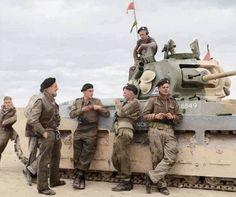 UK TK A12 Matilda MkII 'Defiance' 4th Royal Tank Regiment, 32nd Army Tank Bde, take a break during the fighting near Tobruk, Libya. 28 Nov 1941