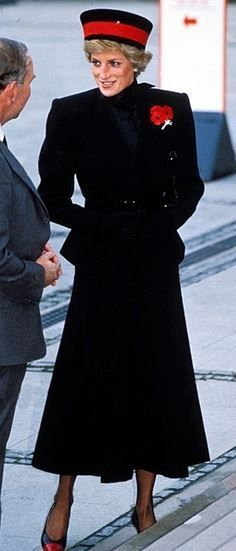 Image result for remembrance sunday princess diana 1987
