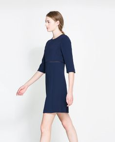 ZARA - NEW THIS WEEK - DRESS WITH ORGANZA TRIM