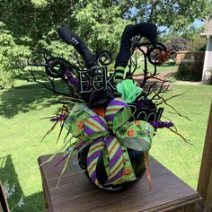 Etsy :: Your place to buy and sell all things handmade Halloween Food For Party, Halloween Themes, Halloween Pumpkins, Halloween Diy, Halloween Decorations, Halloween Centerpieces, Halloween Costumes, Wreath Stand, Witch Legs