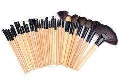 Material: Wood, Aluminum alloy, Nylon hair, Synthetic leather - Big Face Brushes - Full Coverage Face Brushes - Bronzer Brush - Face Blender Brush - Angled Face Shadow Brush - Blush Brush - Foundation