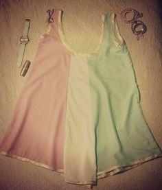 #tricolordress #pinkwhitegreen by @Agostina Nikolaus