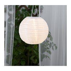 SOLVINDEN Lampa wisząca, energia słoneczna IKEA Nie wymaga żadnych kabli ani wtyczek, przez co jest łatwa w użyciu.