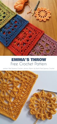 Emma Blanket Free Crochet Pattern During autumn evenings, when the days are entirely gray, I look for projects which are cozy and warm, but also colorful and reflect sunny summer weather. Today, I would like to add a new project to the best blanket Shawl Crochet, Crochet Bedspread, Crochet Motifs, Afghan Crochet Patterns, Knitting Patterns Free, Crochet Stitches, Knit Crochet, Blanket Crochet, Wool Blanket