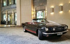 Mustangs in Black 1966 GT Convertible Ford Mustang at the Westin Hotel in Melbourne for Anthony and Irena's wedding.