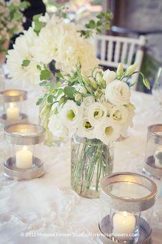 White Lisianthus Wedding Flowers at Vineland Estates Winery@Christina Sanders