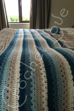 Currently working on this beautiful Attic 24 Cosy Stripe Blanket. Using Stylecraft Special DK in Colours, Petrol, Storm Blue, Duck Egg, Parchment and Cream. I am loving how its working up and I cannot wait to finish it. ♥ #Attic24 #Cosy #Granny #Stripe #Crochet #Crocheted #WIP #Stylecraft #StylecraftSpecialDK
