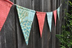 """festive flag bunting my mother calls """"rich"""" looking"""