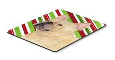 French Bulldog Candy Cane Holiday Christmas Mouse Pad, Hot Pad or Trivet