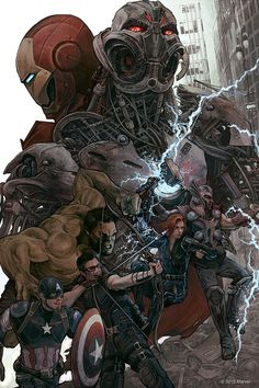 Avengers: Age of Ultron by AJ Frena. This one is even better than the previous Avengers (even though there's no Loki) Marvel Dc Comics, Comics Anime, Heros Comics, Marvel Vs, Marvel Heroes, Marvel Characters, Marvel Movies, Comic Book Characters, The Avengers