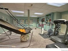 Amazing #home #gym with everything you need to get fit and have some fun.