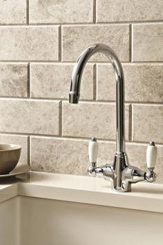 Kitchen Tiles Brick Effect tile type: wall, floor size: 90cm x 45cm £30.61 price/tile qty