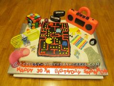 Super Cool 80′s Cake - great website has a ton of other cakes.