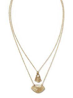 Gingko Leaf Layered Necklace Product Image