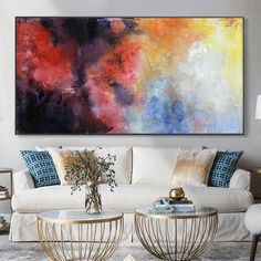 Large abstract painting on canvas large red Painting modern wall painting yellow abstract painting blue abstract painting oversize wall art Canvas Painting Landscape, Blue Abstract Painting, Seascape Paintings, Your Paintings, Original Paintings, Modern Wall Paint, Oversized Wall Art, Minimalist Painting, Black And White Painting