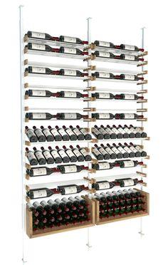 All-Star wine storage Presentation rows and U-Shelves, a perfect match #WineStorage