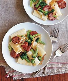 Pasta With Chicken Sausage and Broccoli via Real Simple